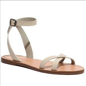 Madewell cream summer sandals size 6